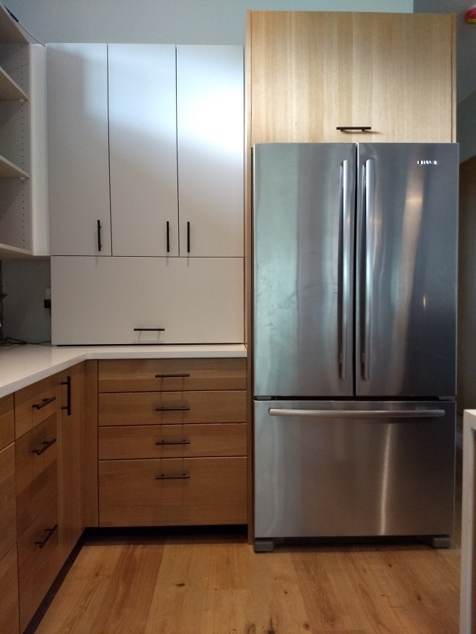 Cabinets Next to Fridge